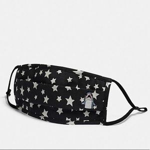 Coach Accessories - 🆕 Coach Sharky 🦈 Face Mask with Star Print